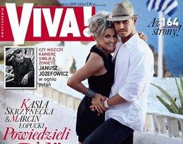 Katarzyna Skrzynecka i Marcin Łopucki na okładce magazynu Viva!