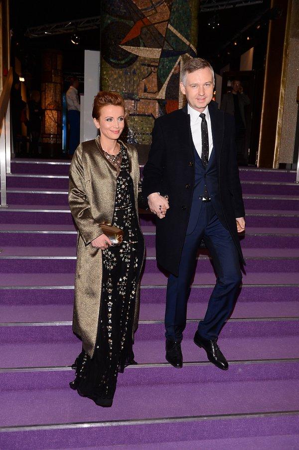 Katarzyna Zielińska z mężem na otwarciu nowej sceny Teatru Kwadrat