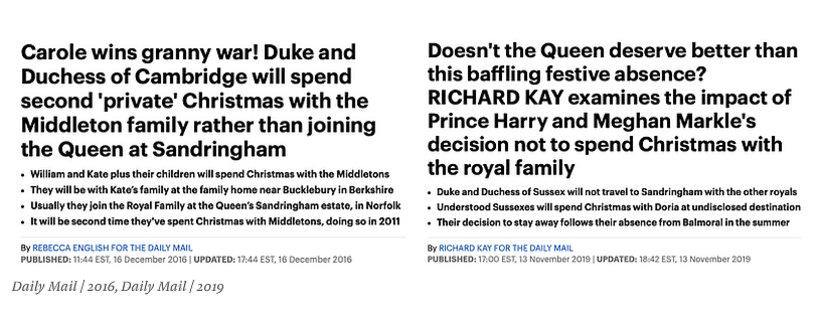 Kate kontra Meghan nagłówki