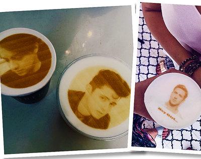 Kawa z niezwykłymi wzorami, barista, kawa, latte