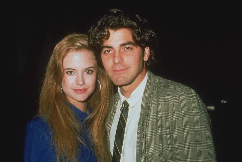 Kelly Preston i George Clooney  w 1985 roku.