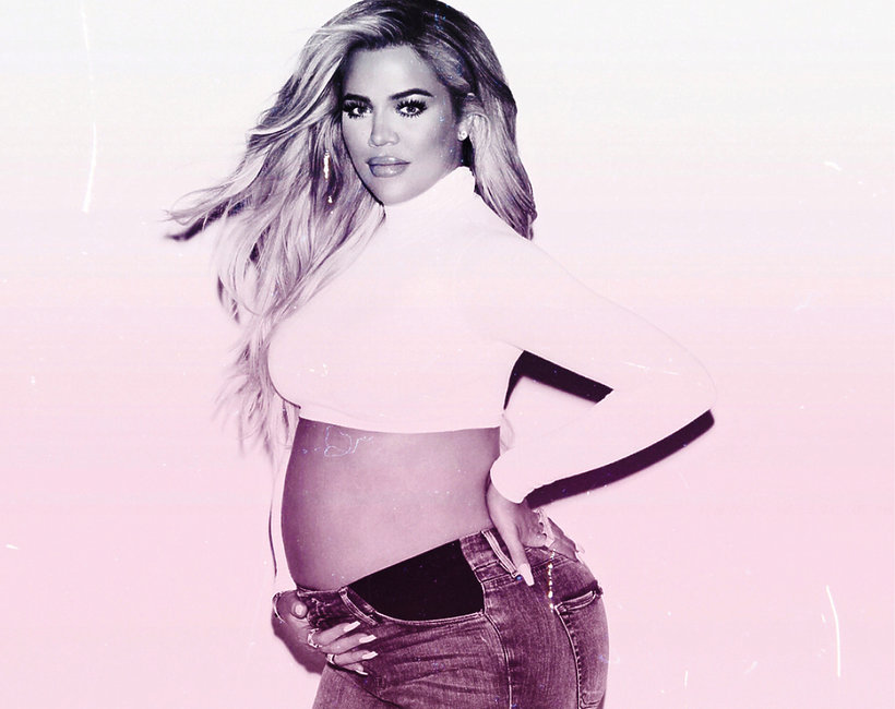 Khloe Kardashian urodziła, Kardashianki, Khloe Kardashian w ciąży, ciążowy brzuszek, ciąże gwiazd