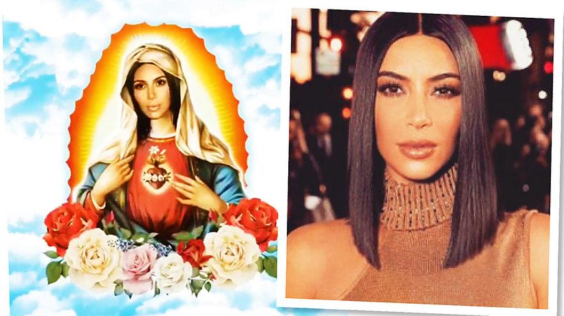 Kim Kardashian jako Matka Boska MT