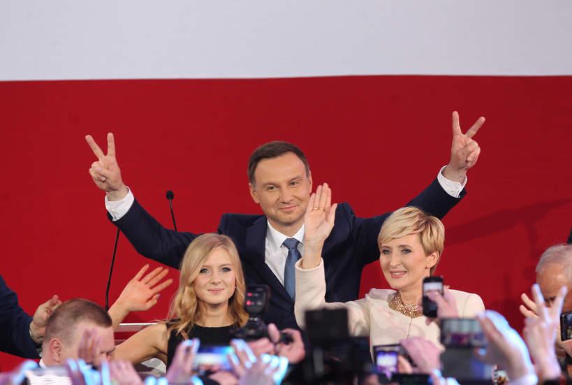 Kinga Duda, Agata Duda, Andrzej Duda, 2015 rok