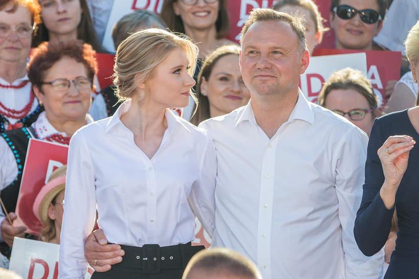 Kinga Duda z ojcem, Andrzej Duda