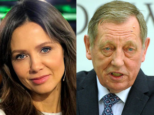 Kinga Rusin i Jan Szyszko