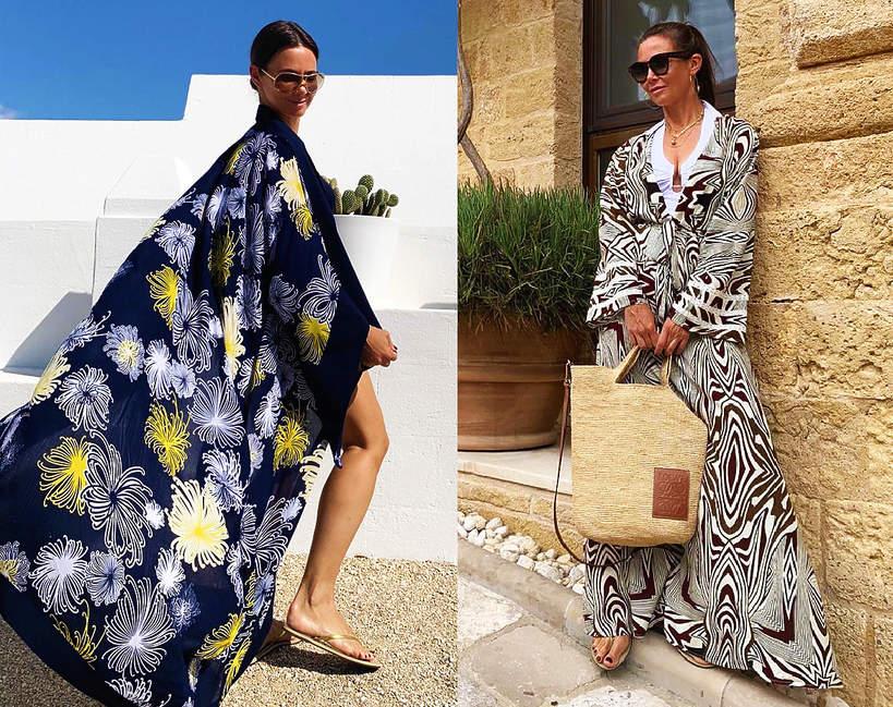 kinga-rusin-pokazala-wakacyjne-stylizacje-koronkowe-sukienki-zwierzece-wzory-i-modne-bikini