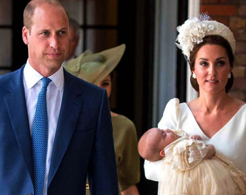kisiężna Kate i książę William, chrzest księcia Louisa, 2018
