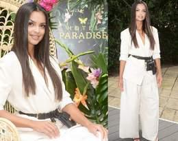 Klaudia El Dursi w garniturze z paskiem za 5,5 tys. złotych promuje drugi sezon Hotelu Paradise