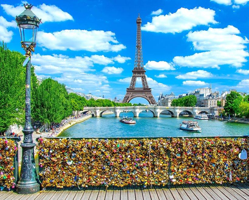 Kłódki na Ponts des Arts, Paryż