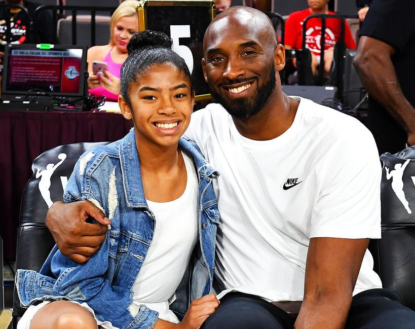 Kobe Bryant z córką, Gianna Maria-Onore Bryant, Gigi