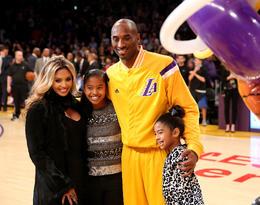 Kobe Bryant z żoną Vanessą i córkami Gianną oraz Natalią, 2014