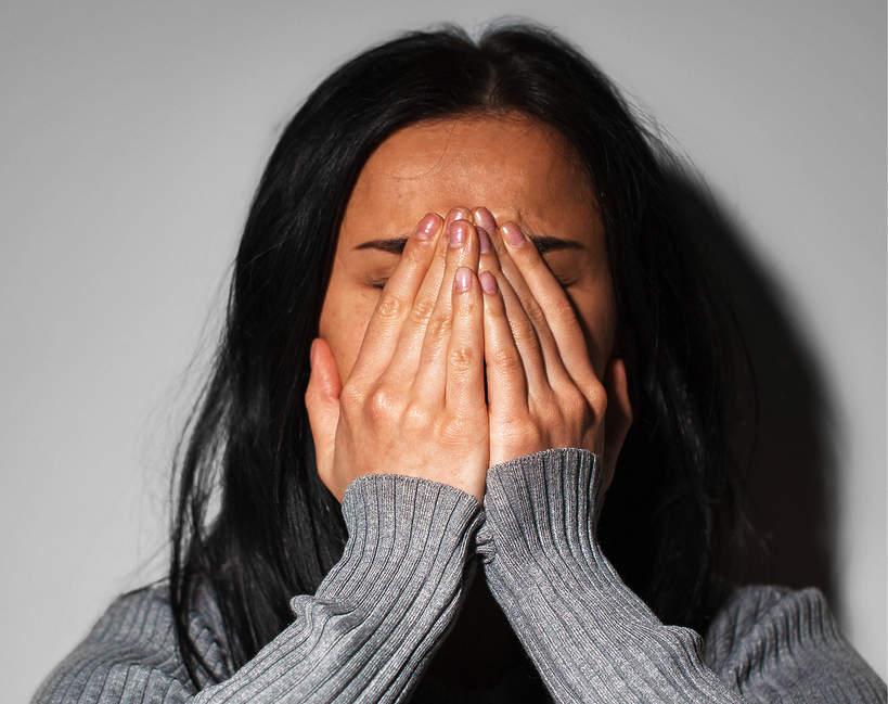 Kobieta, smutna kobieta, płacz, depresja