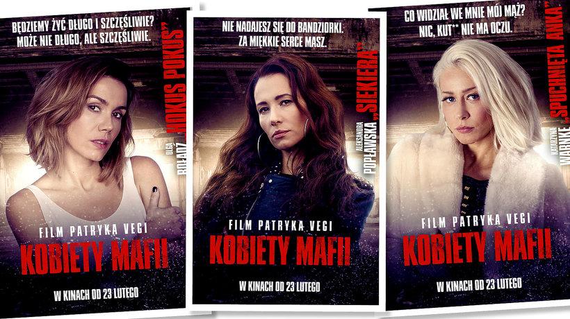 """Kobiety mafii"" Patryk Vega, plakaty filmowe"