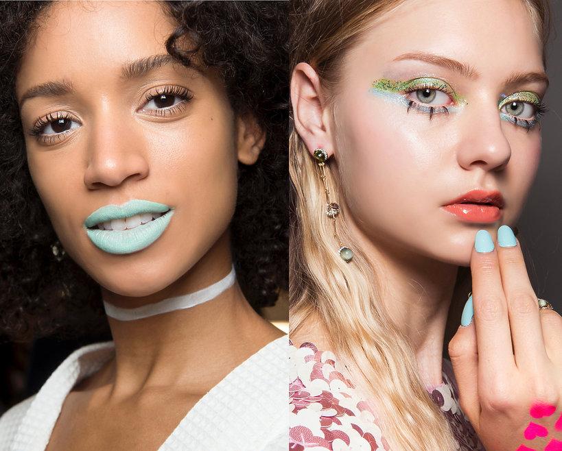 kolorowe usta, inspiracje 2019