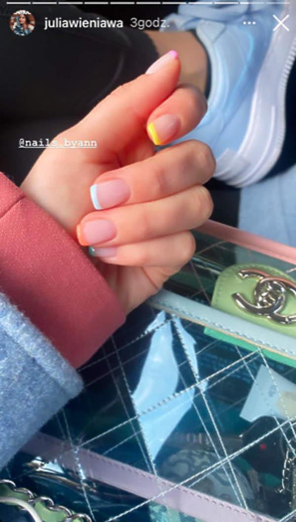 kolorowy french manicure Wieniawy