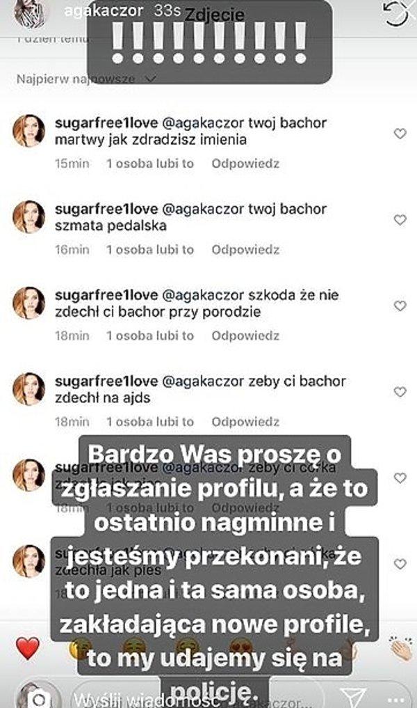 Komentarz z profilu Agnieszki Kaczorowskiej-Peli