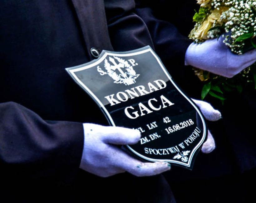 Konrad Gaca, pogrzeb
