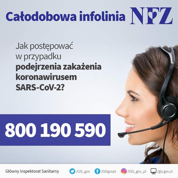 Koronawirus, infolinia NFZ