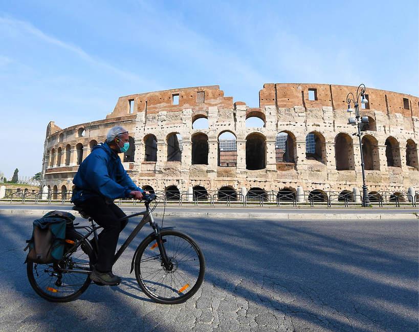 Koronawirus, Rzym, Włochy, Europa