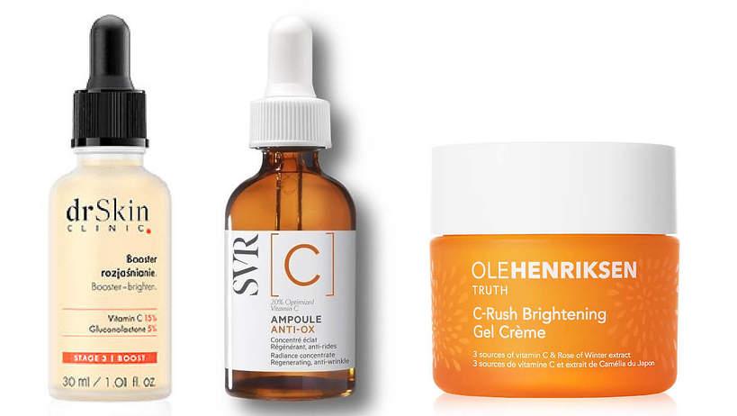 kosmetyki rozświetlające z witaminą C