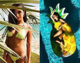 Jakie kostiumy kąpielowema w swojej szafie Julia Wieniawa?