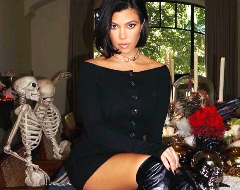 Kourtney Kardashian manicure Halloween 2021