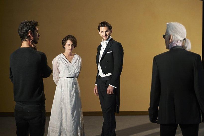 Kristen Stewart na planie o Coco Chanel