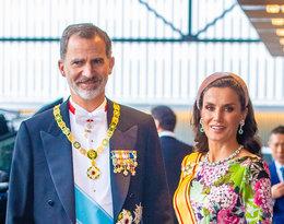Król Felipe i królowa Letizia z Hiszpanii, ntronizacja cesarza Nariuhito, Japonia