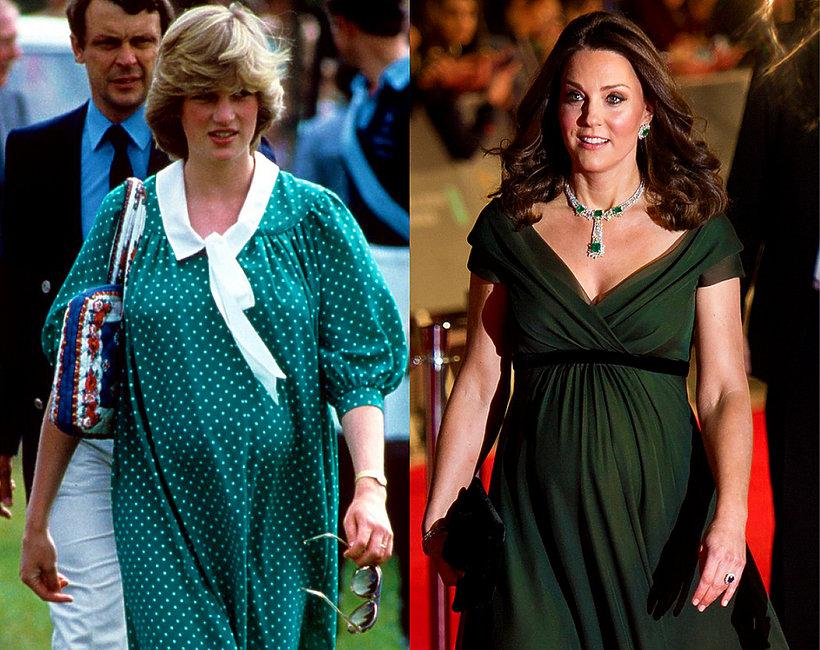 Królewskie ciąże, księżna Diana w ciąży, księżna Kate w ciąży