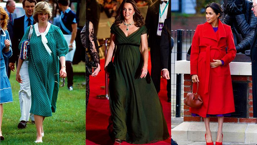 Królewskie ciąże, księżna Diana w ciąży, księżna Kate w ciąży, księżna Meghan w ciąży