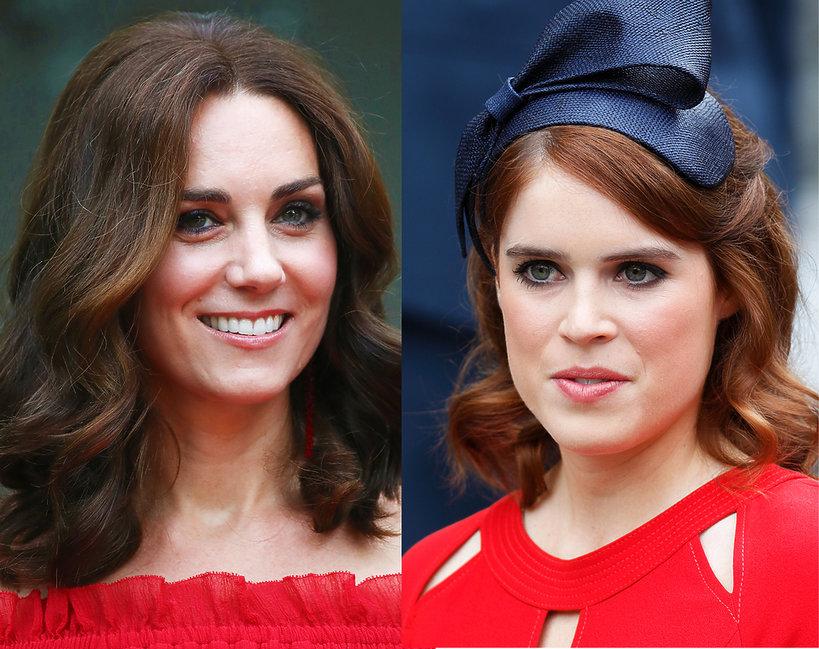 królewskie makijaże Eugenia, Meghan, Kate