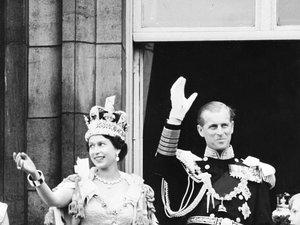 Królowa Elżbieta i książę Filip w dniu koronacji, 02.06.1953