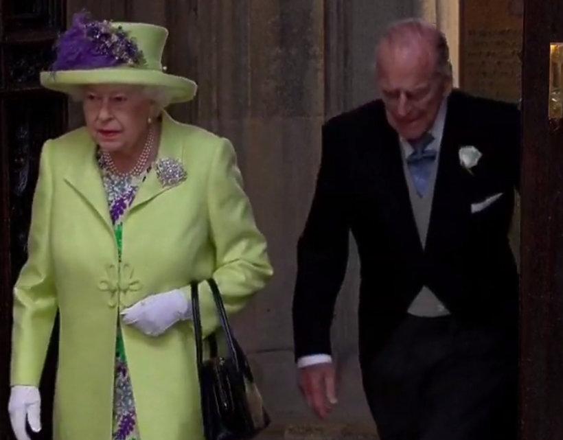 Królowa Elżbieta II i książę Filip na ślubie Meghan Markle