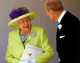 Królowa Elżbieta II i książę Filip na ślubie Meghan Markle i księcia Harry'ego