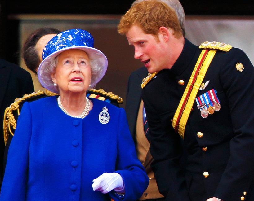 Królowa Elżbieta II i książę Harry
