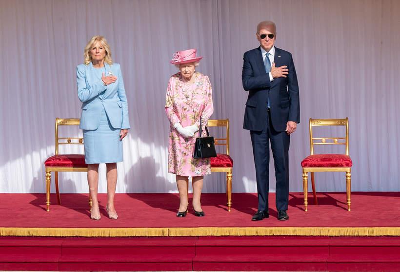 królowa Elżbieta II, Joe Biden protokół królewski
