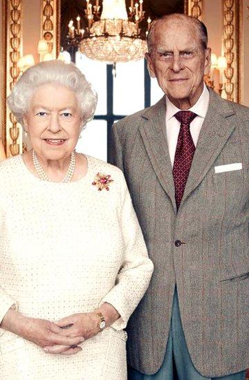 Królowa Elżbieta II, książę Filip, oficjalny portret
