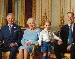 Królowa Elżbieta II, książę Karol, książę William, książę George