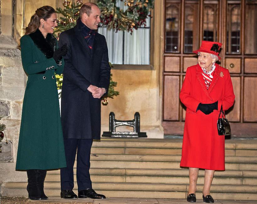 Królowa Elżbieta II, księżna Kate, książę William