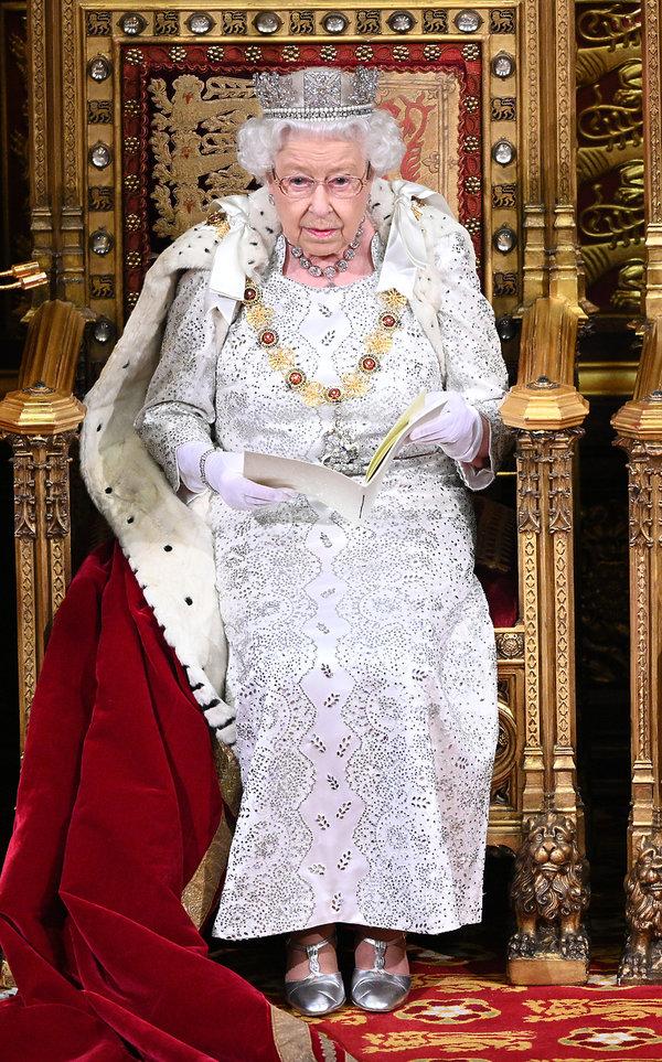 królowa Elżbieta II, otwieranie posiedzenia parlamentu 2019