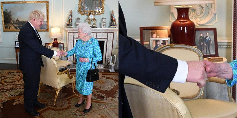 Królowa Elżbieta II, Pałac Buckingham, portrety w pałacu