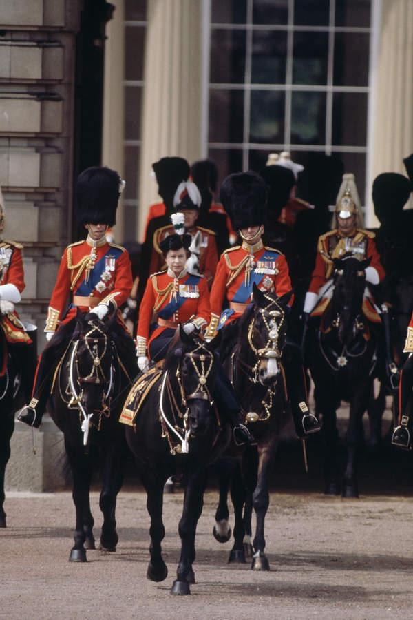 Królowa Elżbieta II, parada Trooping the Colour, 13 czerwca 1981 rok