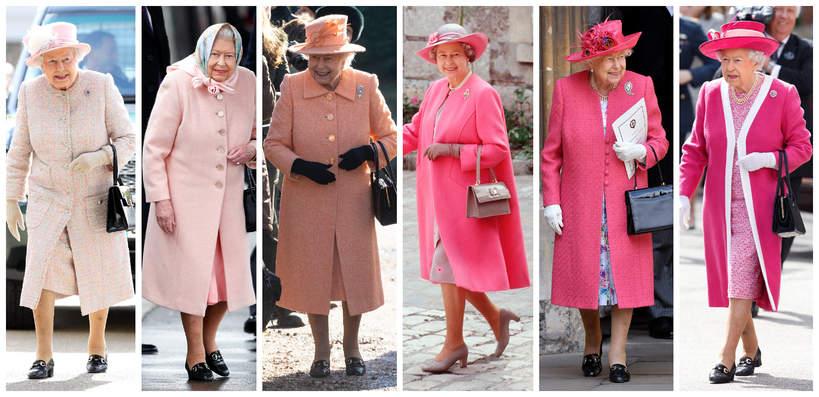 królowa Elżbieta II stylizacje
