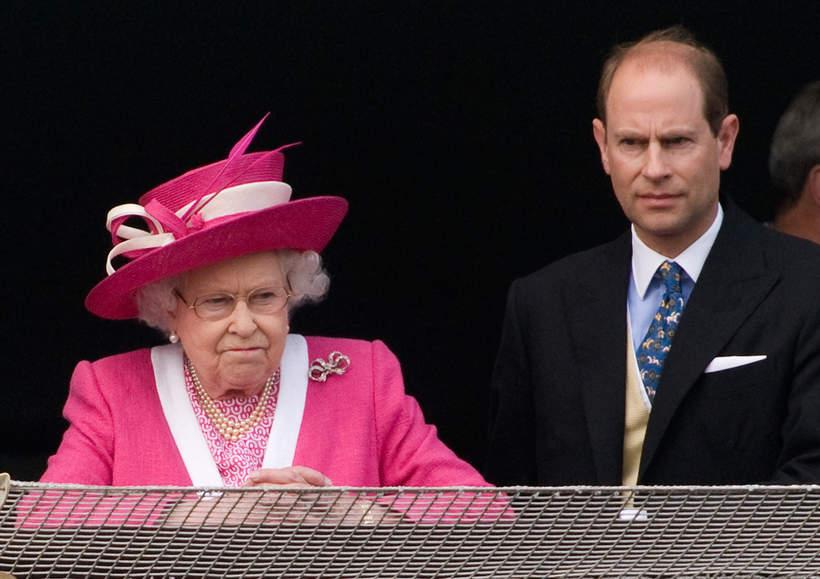 Królowa Elżbieta II syn Edward