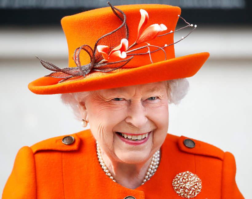 Królowa Elżbieta II uśmiech