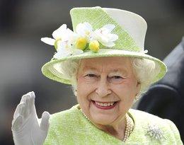 Królowa Elżbieta II w zielonym kapeluszu