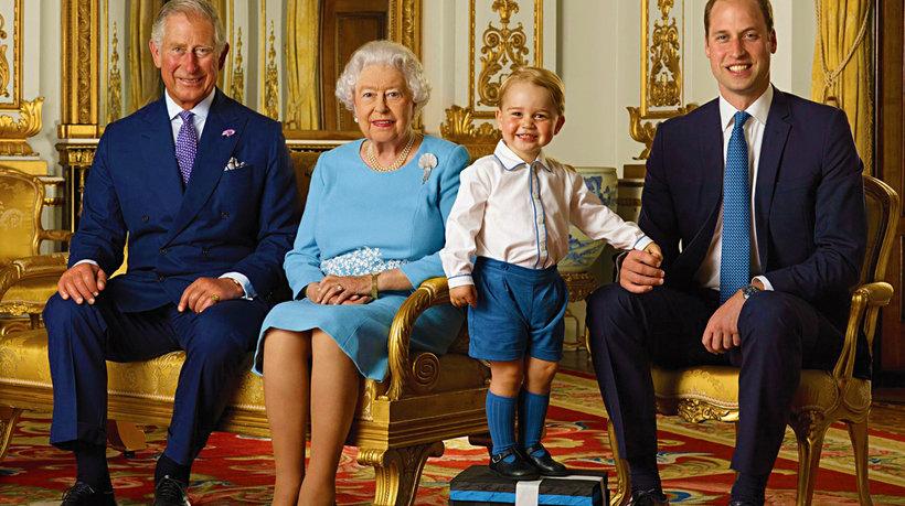 Królowa Elżbieta, książę Karol, książę William i książę George w obiektywie Annie Leibovitz i książę George z urodzin królowej