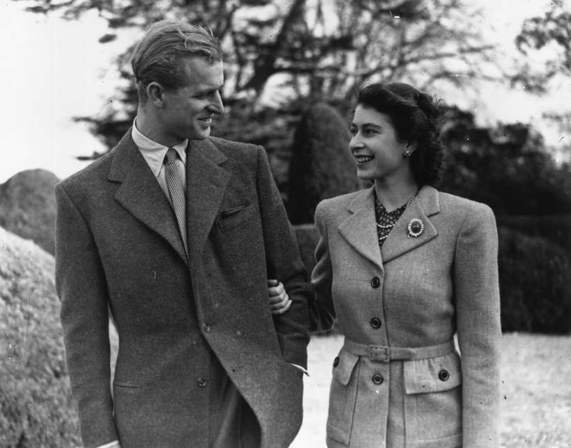 Królowa i Filip miesiąc miodowy