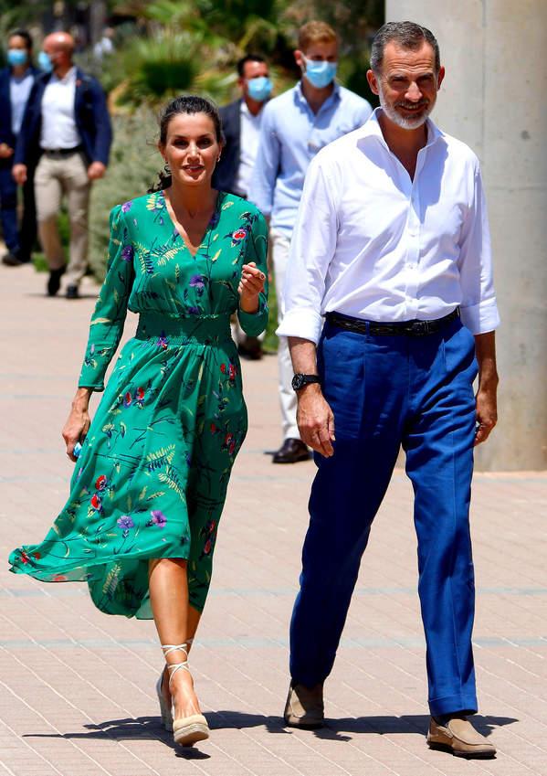 królowa Letizia, wizyta na Majorce, 2020, król Filip VI